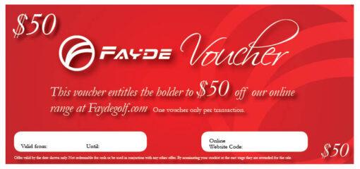 $50 Fayde Certificate